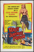"Movie Posters:Crime, Riot in Juvenile Prison (United Artists, 1959). One Sheet (27"" X41""). Crime.. ..."