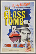 "Movie Posters:Mystery, The Glass Tomb (Lippert, 1955). One Sheet (27"" X 41""). Mystery....."
