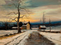 Paintings, ROBERT WILLIAM WOOD (American, 1889-1979). Christmas Eve 1964. Oil on canvas. 18 x 24 inches (45.7 x 61.0 cm). Signed an...