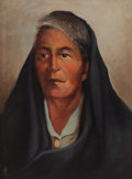 Texas:Early Texas Art - Modernists, VIVEANO LOPEZ (American, 1906-1983). Grandmother. Oil oncanvas. 16 x 12 inches (40.6 x 30.5 cm). Signed lower right:...