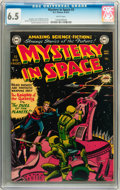 Golden Age (1938-1955):Science Fiction, Mystery in Space #3 (DC, 1951) CGC FN+ 6.5 White pages....