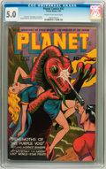 Golden Age (1938-1955):Science Fiction, Planet Comics #37 (Fiction House, 1945) CGC VG/FN 5.0 Cream to off-white pages....