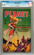 Golden Age (1938-1955):Science Fiction, Planet Comics #38 (Fiction House, 1945) CGC FN 6.0 Cream tooff-white pages....