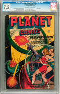 Golden Age (1938-1955):Science Fiction, Planet Comics #43 (Fiction House, 1946) CGC VF- 7.5 Off-white towhite pages....
