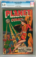 Golden Age (1938-1955):Science Fiction, Planet Comics #59 (Fiction House, 1949) CGC VG/FN 5.0 Cream tooff-white pages....