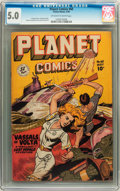 Golden Age (1938-1955):Science Fiction, Planet Comics #60 (Fiction House, 1949) CGC VG/FN 5.0 Off-white towhite pages....