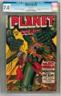Golden Age (1938-1955):Science Fiction, Planet Comics #64 (Fiction House, 1950) CGC FN/VF 7.0 Whitepages....