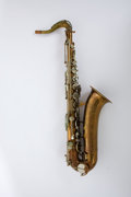 Musical Instruments:Horns & Wind Instruments, Circa 1940 Martin COMM II Low Pitch Saxophone #137895....