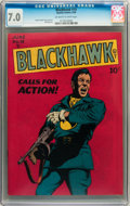 Golden Age (1938-1955):War, Blackhawk #19 (Quality, 1948) CGC FN/VF 7.0 Off-white to whitepages....