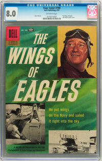Four Color #790 The Wings of Eagles (Dell, 1957) CGC VF 8.0 Off-white pages