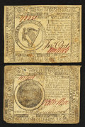 Colonial Notes:Continental Congress Issues, Continental Currency May 9, 1776 $7 and July 22, 1776 $8 VeryFine.. ... (Total: 2 notes)