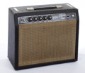 Musical Instruments:Amplifiers, PA, & Effects, Pre-CBS Fender Vibro Champ-Amp Black Amplifier #A02242....