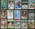 Autographs:Sports Cards, Baseball Great Signed Card Lot Of 38...