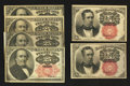 Fractional Currency:Fifth Issue, A Fifth Issue Assortment.. ... (Total: 6 notes)