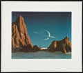 "Movie Posters:Science Fiction, Saturn as Seen from Titan (Viking Press, 1980s). Signed andNumbered Limited Edition Lithograph by Chesley Bonestell (28"" X ..."
