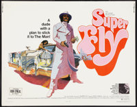 "Super Fly (Warner Brothers, 1972). Half Sheet (22"" X 28""). Blaxploitation"