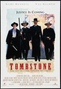"Tombstone (Buena Vista, 1993). One Sheet (27"" X 40"") DS Advance. Western"