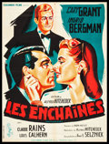 """Movie Posters:Hitchcock, Notorious (Columbia, R-1954). French Affiche (23.5"""" X 31.5"""").Hitchcock.. ..."""