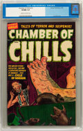 Golden Age (1938-1955):Horror, Chamber of Chills #16 (Harvey, 1953) CGC VF/NM 9.0 Cream tooff-white pages....