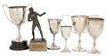 Silver Holloware, British:Holloware, MALCOLM S. FORBES COLLECTION: COLLECTION OF ENGLISH SILVER ANDPLATED SPORTING TROPHIES DATED FROM 1898 TO CIRCA 1930 . 10-...(Total: 6 Items)