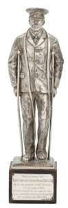 """Decorative Arts, British:Other , MALCOLM S. FORBES COLLECTION: A """"LABOUR OF LOVE"""" WWI COMMEMORATIVESTATUETTE, PRESENTED IN 1929 . 14-1/2 inches high (36.8..."""