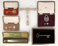 Decorative Arts, British:Other , MALCOLM S. FORBES COLLECTION: COLLECTION OF SIX VICTORIAN AND LATERPRESENTATION KEYS, VARIOUS DATES FROM 1891 . 9-1/2 inch...