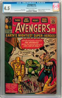 The Avengers #1 (Marvel, 1963) CGC VG+ 4.5 Cream to off-white pages