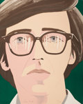 Prints:Contemporary, ALEX KATZ (American, b. 1927). Portrait of a Poet: KennethKoch, 1970. Color lithograph. 27-3/4 x 22 inches (70.6 x55.9...