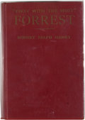 """Books:First Editions, [Nathan Bedford Forrest]. Ralph Selph Henry. """"First With theMost"""" Forrest...."""