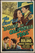 """Movie Posters:Western, Riding the California Trail (Monogram, 1947). One Sheet (27"""" X 41""""). Western.. ..."""