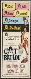 """Movie Posters:Comedy, Cat Ballou (Columbia, 1965). Insert (14"""" X 36""""). Comedy.. ..."""
