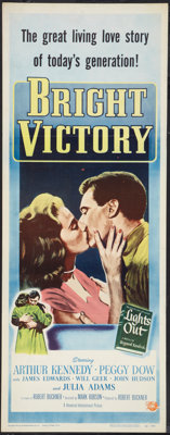"Bright Victory (Universal International, 1951). Insert (14"" X 36""). Drama"
