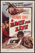 """Movie Posters:Sports, A Race for Life (Lippert, 1954). One Sheet (27"""" X 41""""). Sports.. ..."""