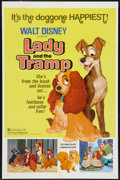 """Movie Posters:Animation, Lady and the Tramp (Buena Vista, R-1972). One Sheet (27"""" X 41"""").Animation.. ..."""