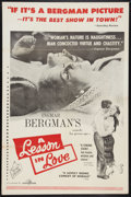"Movie Posters:Foreign, A Lesson in Love (Janus Films, 1960). One Sheet (27"" X 41"").Foreign.. ..."