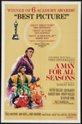 "Movie Posters:Academy Award Winners, A Man For All Seasons (Columbia, 1966). One Sheet (27"" X 41"") Style C. Academy Award Winners.. ..."