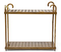 Decorative Arts, Continental:Other , WOOD AND HORN CANE DISPLAY RACK. 34-1/2 x 37-1/4 x 15 inches (87.6x 94.6 x 38.1 cm). ...