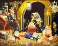 Original Comic Art:Paintings, Carl Barks Time Out For Therapy Painting Original Art (1973)....