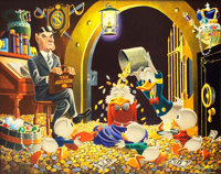 Carl Barks Time Out For Therapy Painting Original Art (1973)