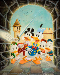 Carl Barks Scrooge's Old Castle Painting #21-72 Original Art (1972)