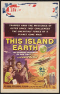 "Movie Posters:Science Fiction, This Island Earth (Universal International, 1955). Window Card (14"" X 22""). Science Fiction.. ..."