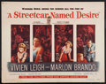 "Movie Posters:Drama, A Streetcar Named Desire (Warner Brothers, 1951). Half Sheet (22"" X 28""). Drama.. ..."