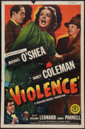 "Movie Posters:Crime, Violence (Monogram, 1947). One Sheet (27"" X 41""). Crime.. ..."