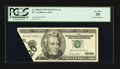 Error Notes:Foldovers, Fr. 2086-H $20 1999 Federal Reserve Note. PCGS Very Fine 35.. ...