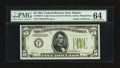 Error Notes:Gutter Folds, Fr. 1955-F $5 1934 Light Green Seal Federal Reserve Note. PMGChoice Uncirculated 64.. ...