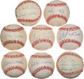 Baseball Collectibles:Balls, Baseball Greats Signed Baseballs Lot of 8. ...