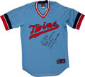 Baseball Collectibles:Uniforms, Kirby Puckett Signed and Inscribed Jersey....
