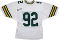 Football Collectibles:Uniforms, Reggie White Signed Jersey....