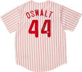 Baseball Collectibles:Uniforms, Roy Oswalt Signed Jersey....