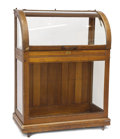 Decorative Arts, Continental:Other, EDWARDIAN OAK AND GLASS CANE DISPLAY CASE. 47-3/8 x 35-1/2 x 18-1/2inches (120.2 x 90.2 x 47.0 cm). ...
